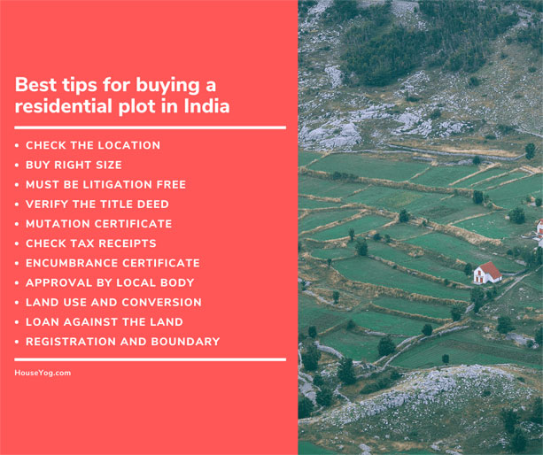 Best tips for buying a residential plot in India
