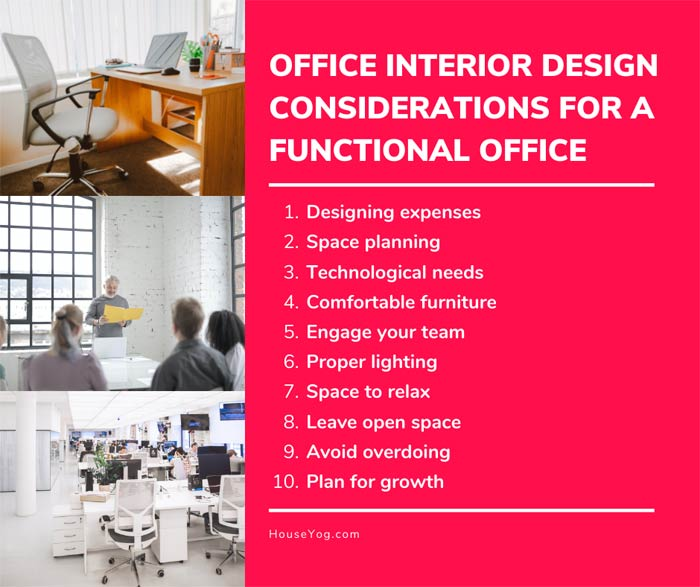 Office Interior Design Considerations for a Functional Office