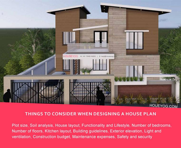 Things to consider when designing a new house plan